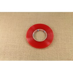 Двусторонняя липкая лента красная 50м*12мм