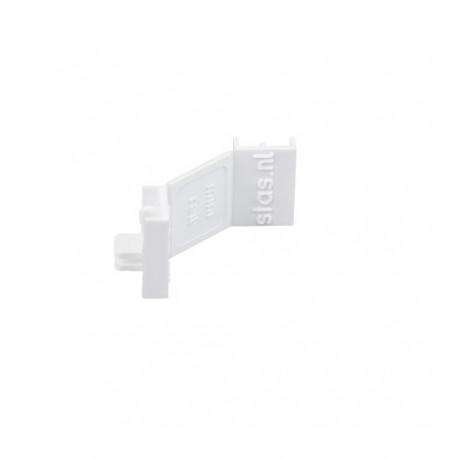 Угловой соединитель (пара заглушек) белый для мини-рельса